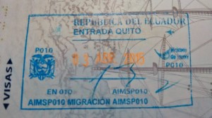Ecuador Entry Stamp
